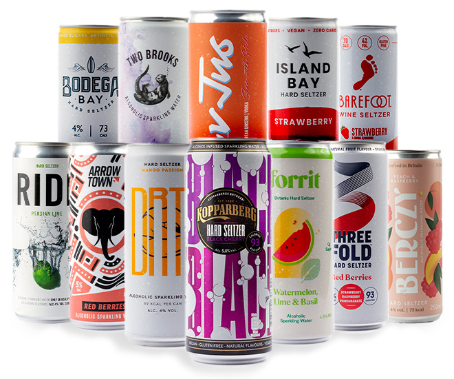 Hard Seltzer Mixed Taster Pack - Punch Multi Flavour