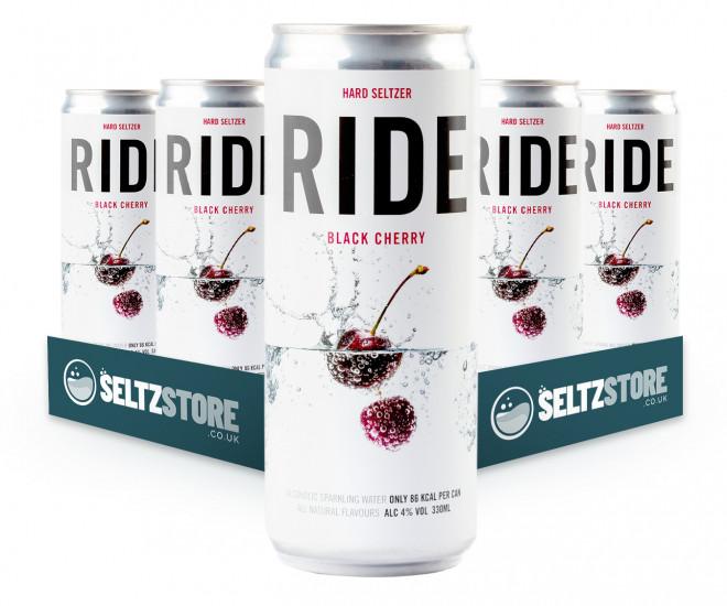 Ride Black Cherry Hard Seltzer
